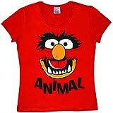 Los Muppets - Animal Cara Camiseta para mujer - Rojo - Diseño original con licencia - LOGOSHIRT
