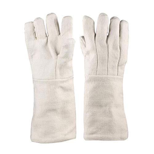 YFF Keramikfaserbeständigkeit bis 1000 Grad Isolationshandschuhe Industrie hitzebeständige experimentelle Schutzhandschuhe feuerfeste Handschuhe