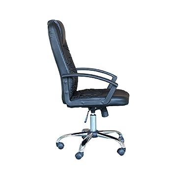 EBS Housse Fauteuil de bureau Chaise Ergonomique Exécutive en cuir (Noir)