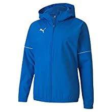 Puma Teamgoal Rain Jacket Core Veste Imperméable Homme, Electric Blue Lemonade White, S