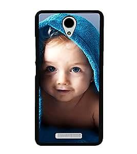 Cute kid with Blue Towel 2D Hard Polycarbonate Designer Back Case Cover for Xiaomi Redmi Note 2 :: Redmi Note 2 Prime