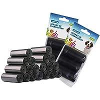 Nobleza - 1080 Conde Bolsas Caca Perro Bolsas biodegradables para excrementos de Perros Pack de 72 Rollos. Color Negro