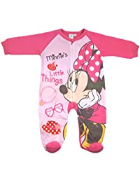 Süßer Disney Minnie Mouse Fleece Strampler in rosa Größe 74