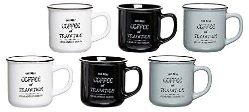 Ritzenhoff & Breker Kaffeebecher-Set Best Coffee, 6-teilig, 330 ml, farblich sortiert