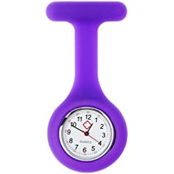 Purple Infection Control Silicone Health Care Workers Nurses Fob Watch by VAGA®