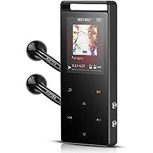 Lettore Mp3 Bluetooth, 16 GB Musicale Lettore MP3 di Metallo con Pulsanti di Tocco e Radio FM, Colore Grigio Scuro- AGPTEK A01ST