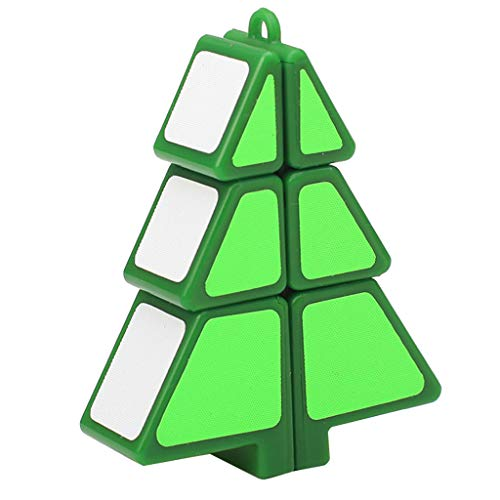 AMUSTER Zauberwürfel 1X2X3 Weihnachtsbaum Würfel-Puzzle Ultra-Smooth Magic ()