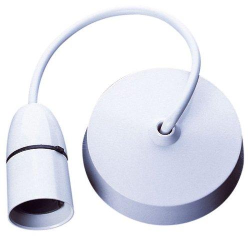 Blanc 100 W T2 Support de lampe Suspension avec rosace - Altaï E301KBT