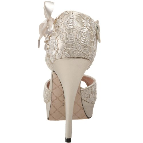 Chinese Laundry Head Over Heels Stoff Sandale Ivory