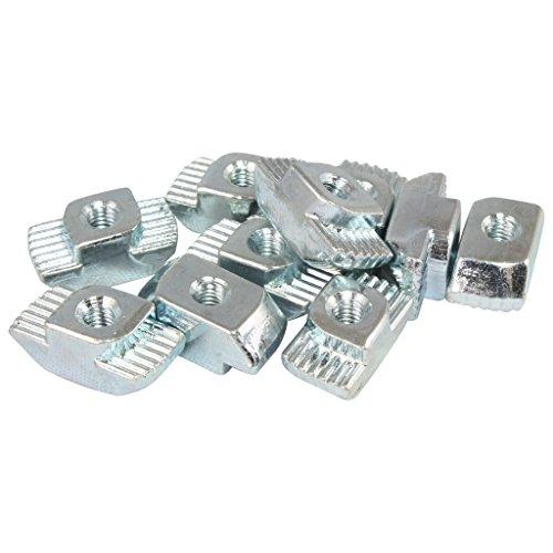 100x Hammermutter Nut 10 - Typ B - M4 Steg 3,0 mm, Stahl verzinkt (M4 Typ)