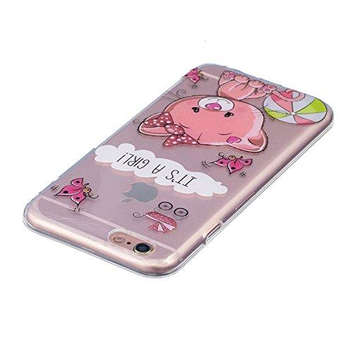 Cover iPhone 6S Plus, Custodia iPhone 6 Plus, CaseLover Custodia per iPhone 6S Plus / iPhone 6 Plus (5.5 Pollici) Ultra Sottile Trasparente Morbida Gomma Gel TPU Silicone Protectiva Corpeture Flessibi Orso
