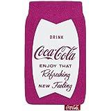 Original Coca Cola Universal Socke Tasche Fuschia Rosa Retail Verpackung geeignet für Karbonn Sparkle V Android One Smartphone