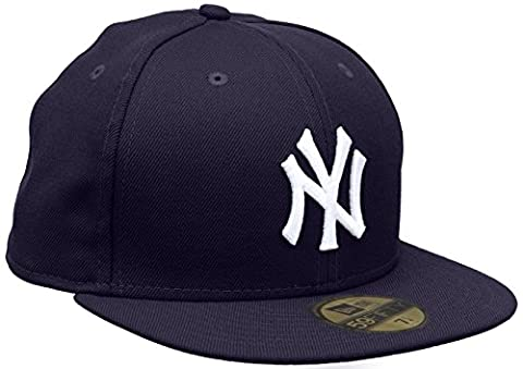 New Era Erwachsene Baseball Cap Mütze Mlb Basic NY Yankees 59Fifty Fitted, Lila, 7 1/2inch - 60cm