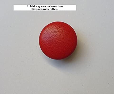 Leather Button Leather Buttons 23mm Red Real Leather Covered