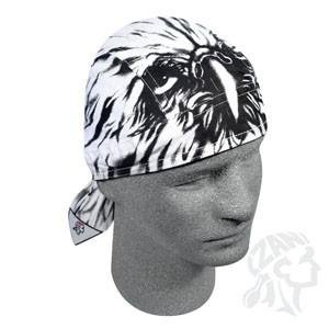 Zan Headgear ZSG033 Road Hog Flydanna 100 Percent Cotton Airbrushed Eagle