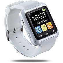 E821 U80 Smart Watch Pulsera Smartphone Reloj Inteligente por Bluetooth 4.0,Anti-perdida Sportswatch Podómetro Ajuste para Teléfonos Android IOS iPhone 5/6s,Samsung Galaxy,Sony,HTC,LG,HUAWEI,ZTE,Xiamomi. ( Blanco )