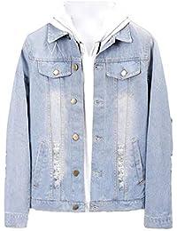 chenshijiu Men's Button Down Long Sleeve Trucker Denim Jacket Coat
