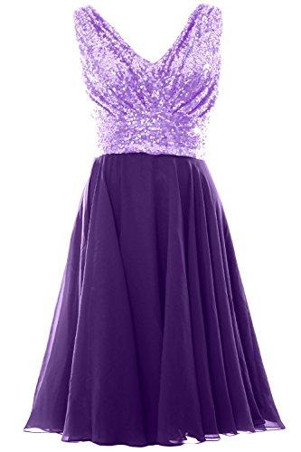 MACloth - Robe - Trapèze - Sans Manche - Femme Violet - Lavender-Purple