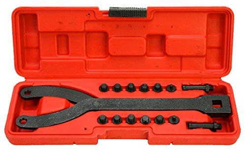 FreeTec Clé à ergot Jeu de clés à molette réglables, démontage poulie,15 pièces