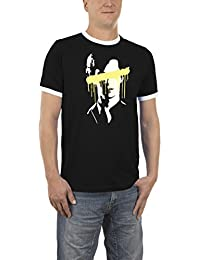 Touchlines Herren T-Shirt Sherlock Splat Kontrast