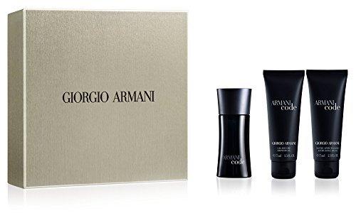 Code-set (Giorgio Armani ARMANI CODE for Men Geschenkset : 50ml EDT Spray, 75ml Shower Gel & 75ml After Shave Balm)