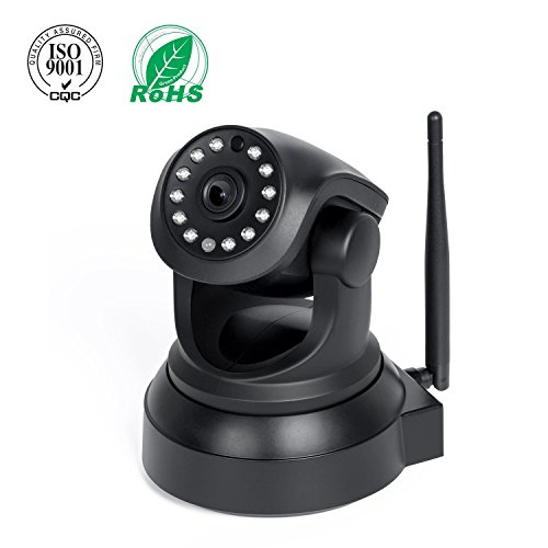 IP Camera, Elebor 720P Full HD Home Security WiFi Cameras, Baby Video Monitor With Remote Motion Detect Alert, Two-Way Audio Black ¡ 4158AgwCFyL