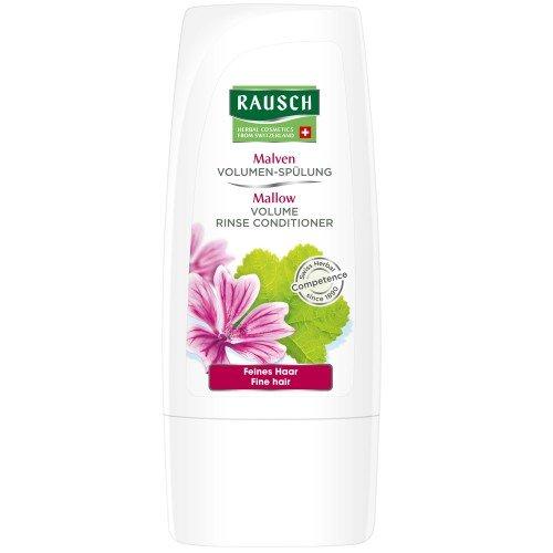 Rausch Malven Volumen-Spülung (erfüllt feines, kraftloses Haar mit langanhaltendem Volumen, ohne Silikone und Parabene - Vegan), 4er Pack (4 x 30 ml)