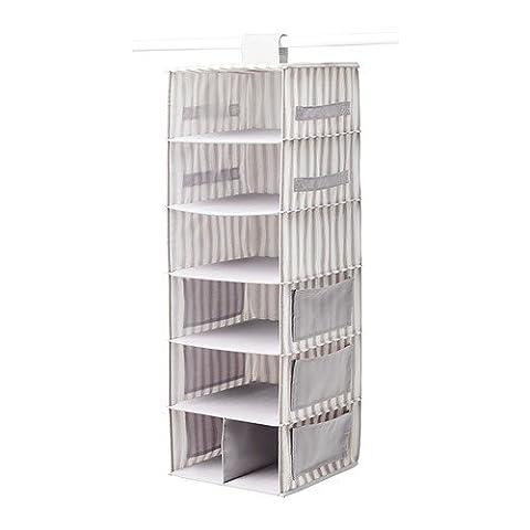 IKEA SVIRA Hängeaufbewahrung 7 Fächer in grau/weiß; (30x30x95cm)