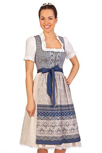 Spieth & Wensky Trachten Mididirndl 2tlg. - EDA - Rot, Blau, Größe 52