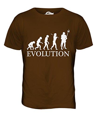 CandyMix Ritter Evolution Des Menschen Herren T Shirt Braun