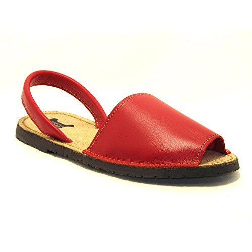 15090 - Sandalias ibicencas Rojo 42