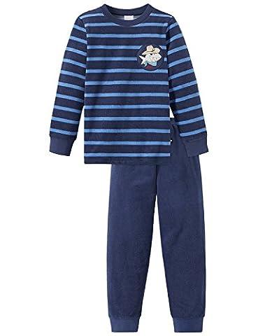 Schiesser Jungen Zweiteiliger Capt´n Sharky Kn Schlafanzug Lang Blau (Blau 800), 98