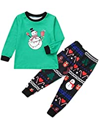 FELZ Pijamas de Navidad Familia Adultoos Pijama Familiares Manga Larga Hombre Mujer Niños Baby Ropa de