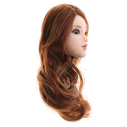 MagiDeal 1/6 Schönes Mädchen Kopf Sculpt mit Haar Für 12 '' Action Figur - B