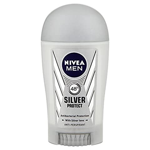 Nivea Men Silver Protect 48 Hours Anti-Perspirant Deodorant Stick, 40 ml - Pack of 6