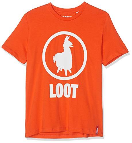 Fortnite 10805 Camiseta, Naranja Orange, 10 años para Niños
