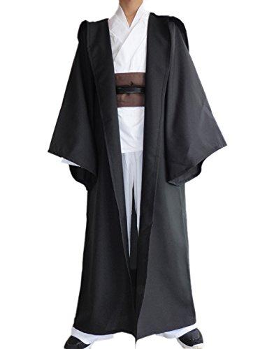 Herren Kostüm mit Kapuze Robe Kleidung Umhang Ritter Halloween Karneval Cosplay (Nur eine Robe)
