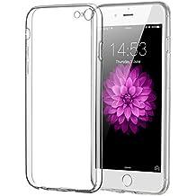 Elzo Funda Carcasa Gel Transparente para iPhone 6/6S Plus, Ultra Fina 0,8mm Case Bumper, Silicona TPU de Shock- Absorción y Anti-Arañazos Borrar Espalda (5.5 inches) (TPU transparente)