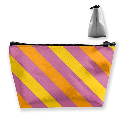 Fliesen-Pastellstreifen-Muster-Make-upzug umkleidet Berufsreise-Make-upbeutel-Kosmetik-Kästen