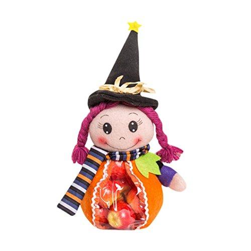 Transer® Halloween Süßigkeits-Beutel-Geschenk-Beutel Nette Hexe-Puppe-Zuckerglas-Größe: 27 * 13 * 8cm (Trick Spiderman Or Tasche Treat)
