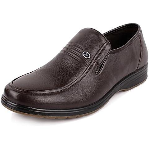 Leather slip in pelle scarpe/Scarpe inferiori molli del middle e