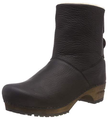 Sanita Damen Wood silkan Low Boot Schlupfstiefel, Schwarz (Black 2), 40 EU