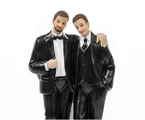 Brautpaar, Hochzeitspaar | Tortenaufsatz, Tortenfigur, Dekofigur Cake Topper Wedding | Männerpaar Gleichgeschlechtlich | 11,5 cm