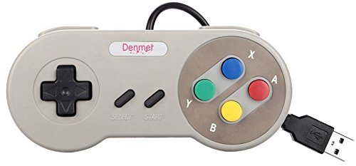 denmer SNES Retro USB Super Famicom Controller Gamepad Joystick, USB PC Super Classic Controller Joypad Single Controller