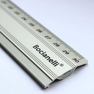 30cm 300mm Règle en Aluminium Anodisée Antidérapante - Dessin Technique Traçage Illustration