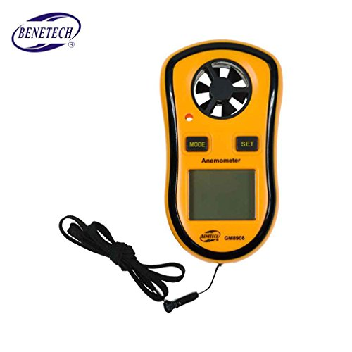 Pigup GM8908 Anemometer-Thermometer Windgeschwindigkeit Messgerät Meter Windmesser 30 m/s LCD-Digital-Handmesswerkzeug