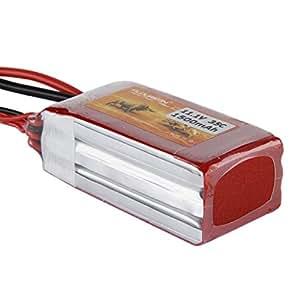 Lot de Deux FLOUREON 3S 11.1V 1500mAh 35C Lipo Batterie Pack (XT60) - Rouge