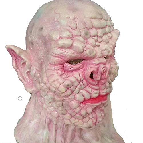 Rwdacfs Masken für Erwachsene,Latex Schlüsselwörter Maske Zombie Dämon Bar Party Requisiten