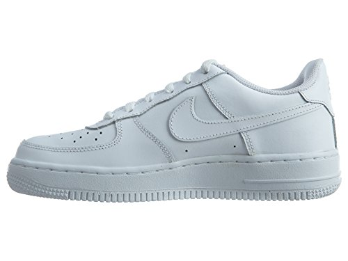 Nike Air Force 1 (Gs), Scarpe da Basket Bambino Black / Gris (Black / Sail-Wolf Grey)