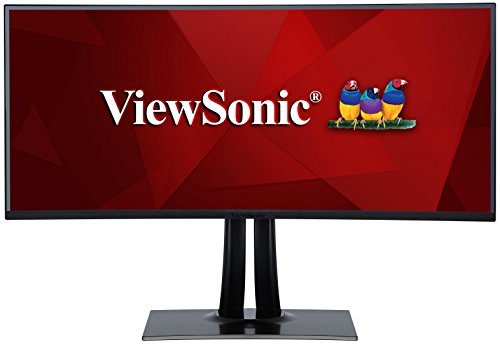 Viewsonic VP3881 95,3 cm (38 Zoll) Fotografen Monitor mit Kalibrierfunktion (WQHD+, IPS-Panel, 100% sRGB, Curved, HDR10, USB C, HDMI 2.0, DP) Schwarz Viewsonic 32